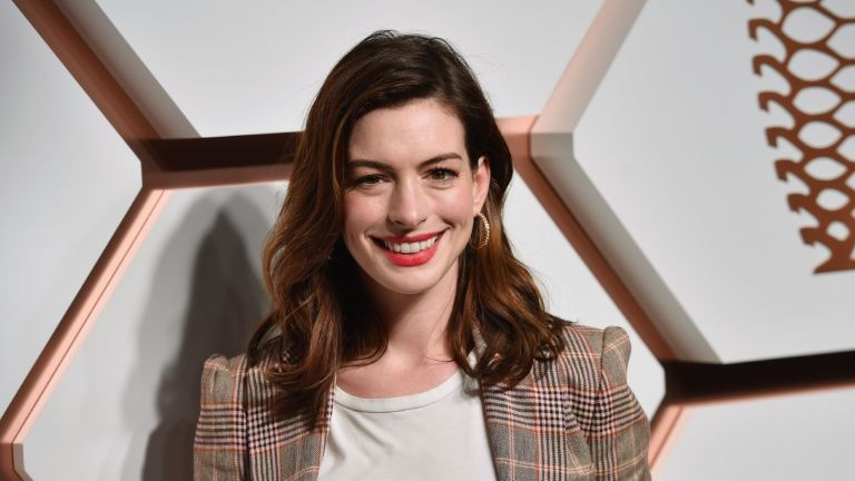 US actress Anne Hathaway attends The Shops & Restaurants at Hudson Yards Preview Celebration Event on March 14, 2019 in New York City. (Photo by Angela Weiss / AFP) (Photo credit should read)