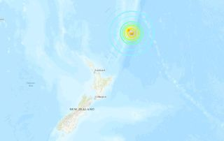 The 8.1-magnitude earthquake occurred at 8:28 a.m. local time near New Zealand's Kermadec Islands.