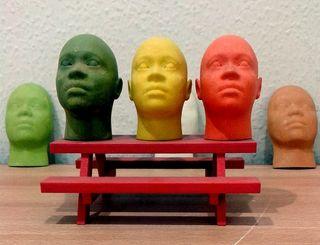 3d Printed faces, 3dp, 3d printing and medicine
