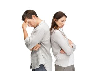 frustrated couple
