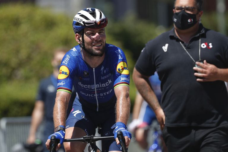 Mark Cavendish after winning the final stage of the Belgium Tour 2021