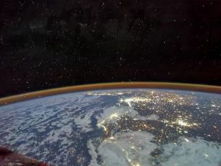 On July 30, 2021, Shenzhou 12 astronaut Tang Hongbo photographed the spectacular scenery of thousands of lights on the North African continent.