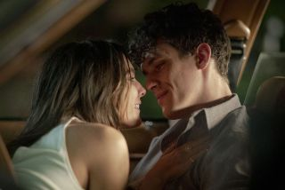 Caitlin Stasey as Jill Shore and Sam Vartholomeos as Jimmy Farrell in Epix series Bridge and Tunnel.