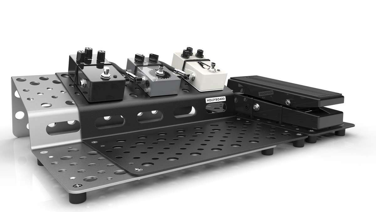 Holeyboard introduces the expandable and fully reconfigurable Holeyboard 123 pedalboard