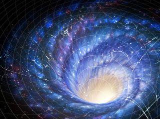 Warped Space-Time Around a Galaxy