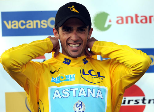 Alberto Contador leads, Paris-Nice 2010, stage five