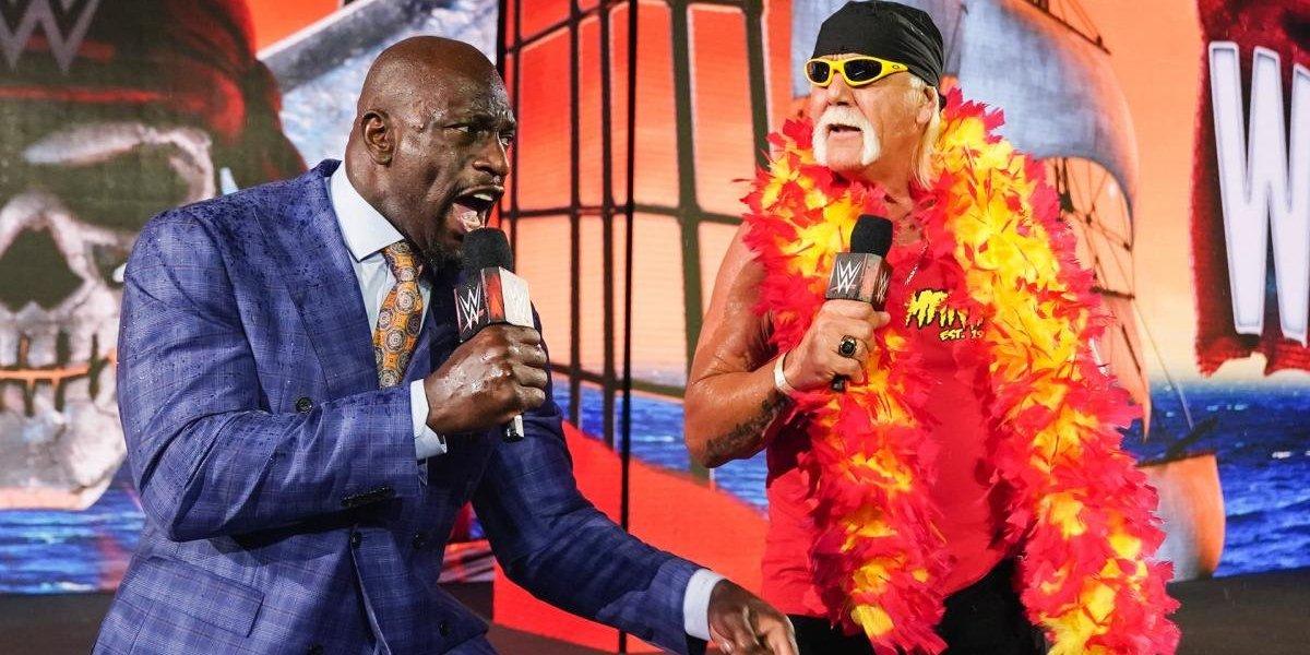 Titus O'Neil and Hulk Hogan at WrestleMania 37