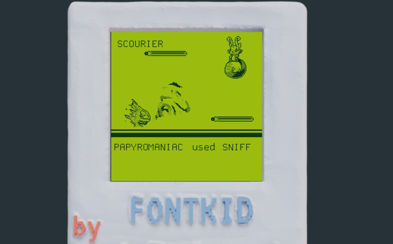 This Pokémon fan game is very literally made out of a font