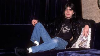 Malcolm Young on the AC/DC tour bus in 1985