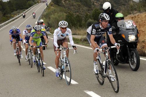 Jens Voigt leads the escape, Tour of Catalonia 2010, stage four