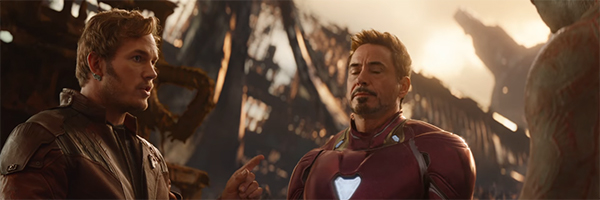 Star-Lord exasperating Tony Stark in Avengers: Infinity War