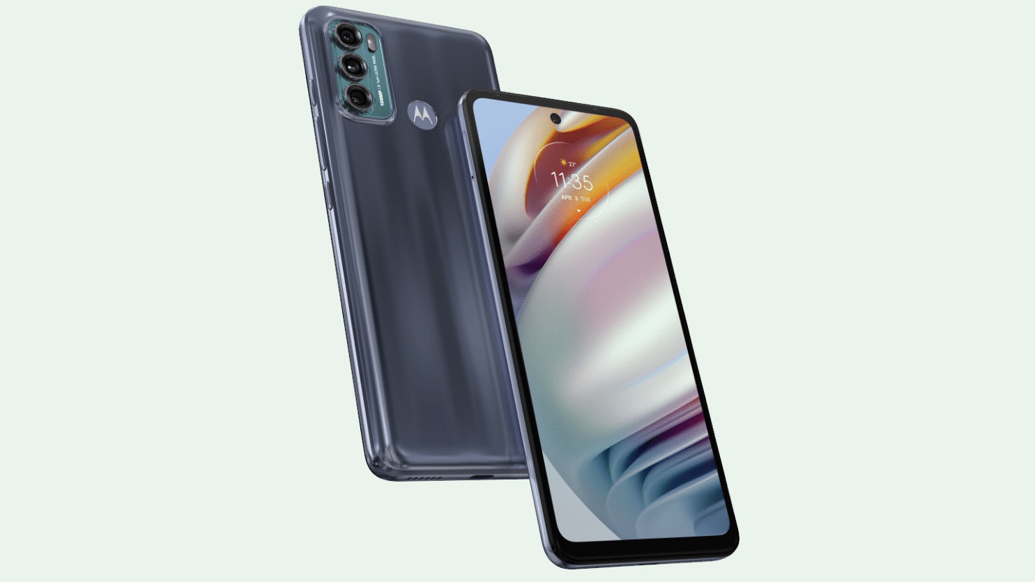 Front and back render of the Moto G60