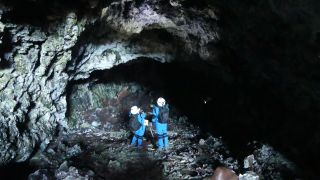 Volcanic lava tubes on Earth serve as analogs for similar environments that astronauts may one day visit and explore on Mars and the moon.