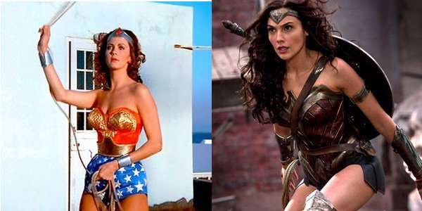 lynda carter and gal gadot as wonder woman