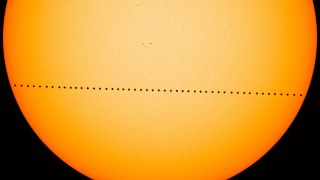 Mercury crossed the face of the sun on May 9, 2016 during a rare transit that delighted skywatchers around the world. It will happen again on Nov. 11, 2019.