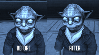 Knights of the Old Republic AI upscale mod