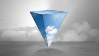 Your PC games but inside a pyramidal abstract cloud thing