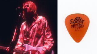 Kurt Cobain performs live