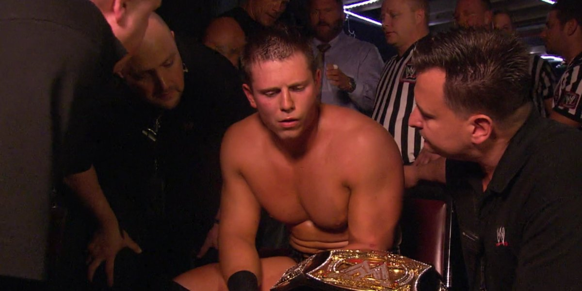 The Miz with WWE medical staff in WWE 24