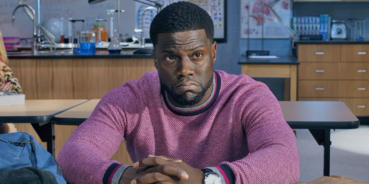 Night School Kevin Hart pouts inside the classroom