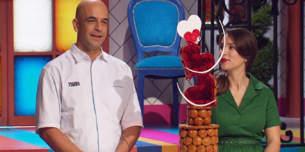 Adriano Zumbo and Rachel Khoo in Zumbo's Just Desserts