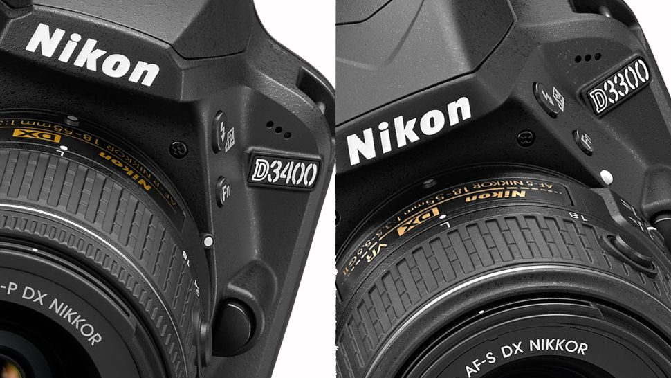 What's the difference between the Nikon D3300 and D3400