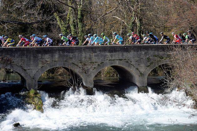 Photo: The peloton on stage six of the 2014 Paris-Nice .