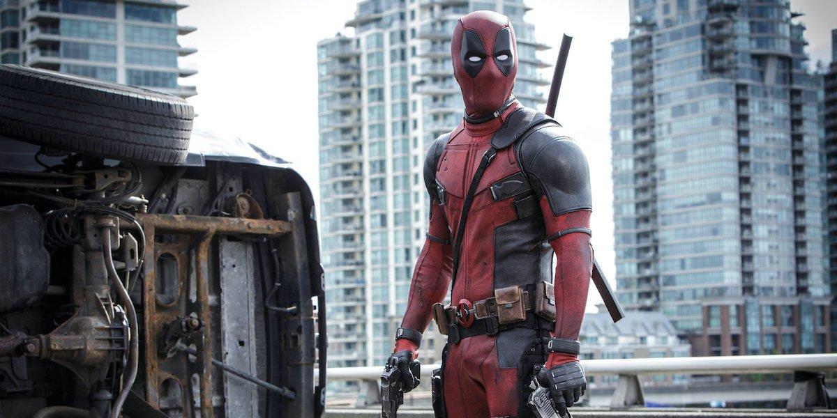 Ryan Reynolds suited up as Deadpool