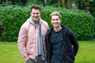 Marco and Jacob in Hollyoaks played by AJ and Curtis Pritchard