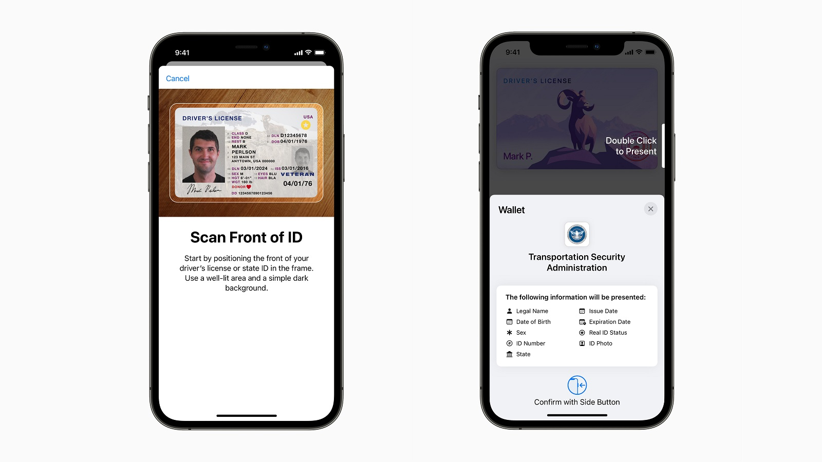 Apple Wallet state ID