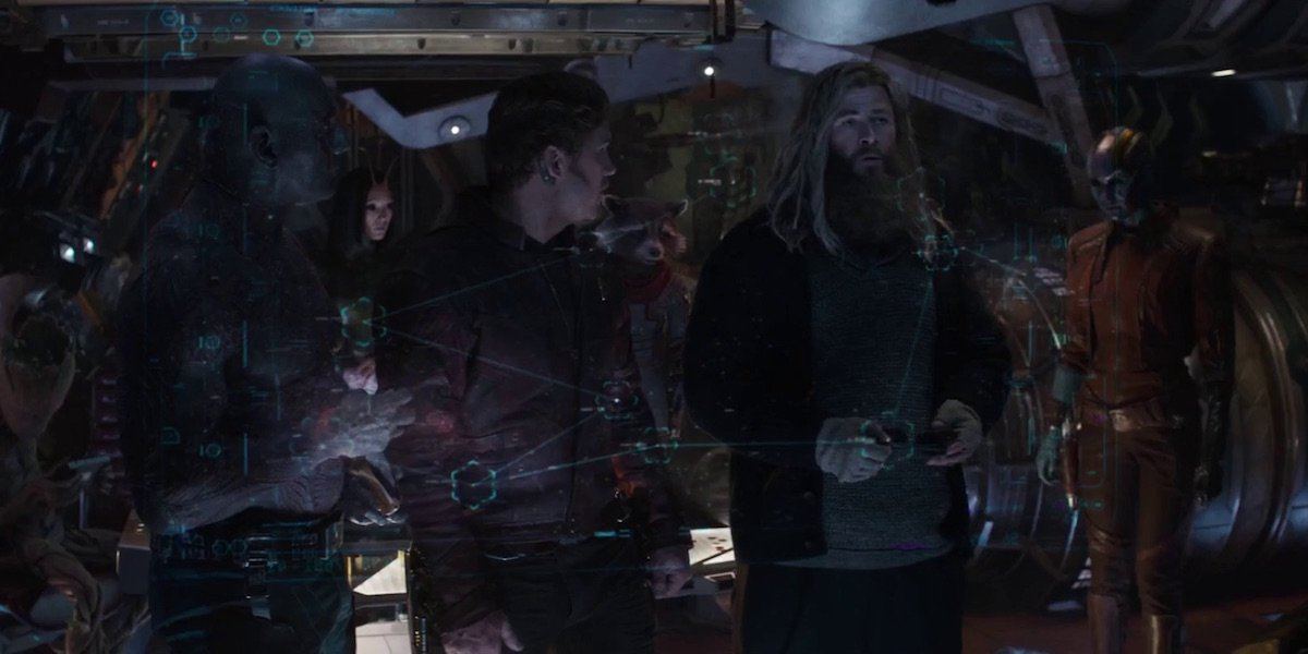 Guardians of the Galaxy and Thor in Avengers: Endgame