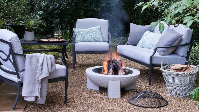 metal garden furniture: metal set in garden from john lewis