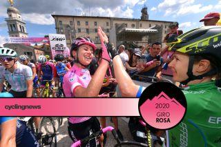 Annemiek van Vleuten and Amanda Spratt at the 2019 Giro Rosa