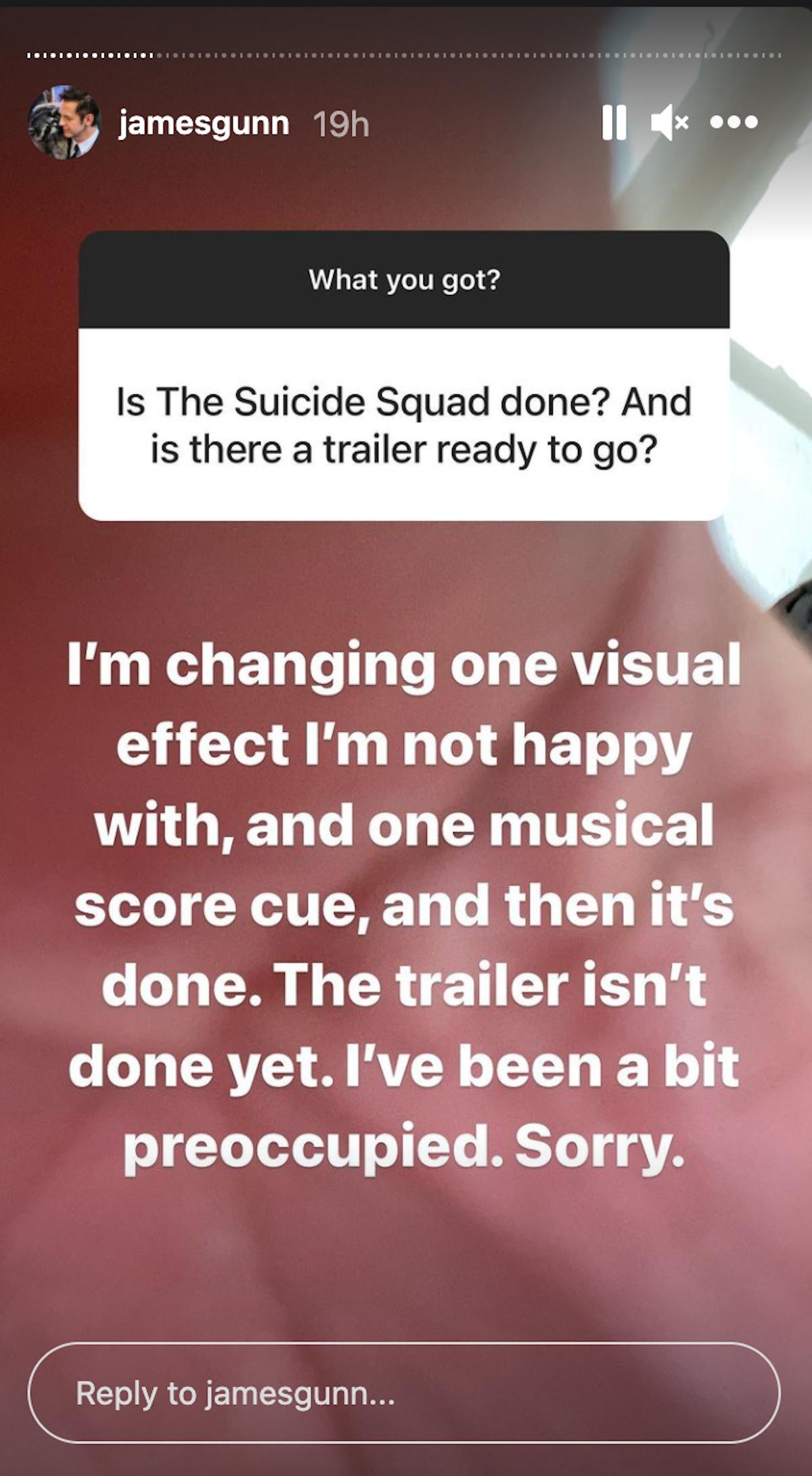 James Gunn's post