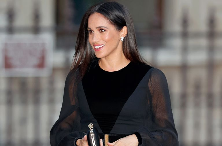 meghan markle marks spencer black midi dress stock