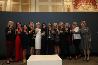 WiCT 2020 honorees and volunteers raise a glass to women in tech at CES 2020.