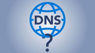 The word DNS on a globe with a question mark underneath