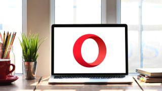Opera Browser Logo on Windows laptop