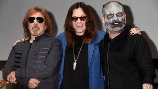 Geezer Butler, Ozzy Osbourne and Corey Taylor