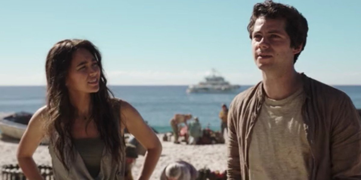 Jessica Henwick and Dylan O'Brien in Love and Monsters