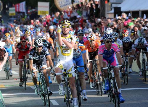 Mark Cavendish wins Tour of Romandie 2010 stage 2