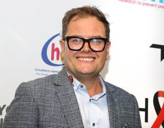 Comedian Alan Carr at the BGC Charity Day 2019.
