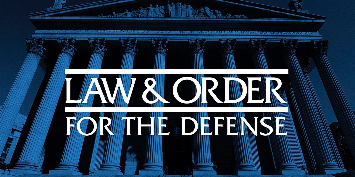 Law & Order: For the Defense logo.