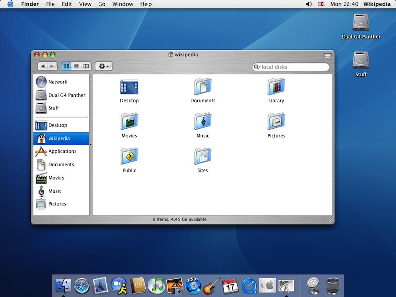 OS X 10.3 Panther