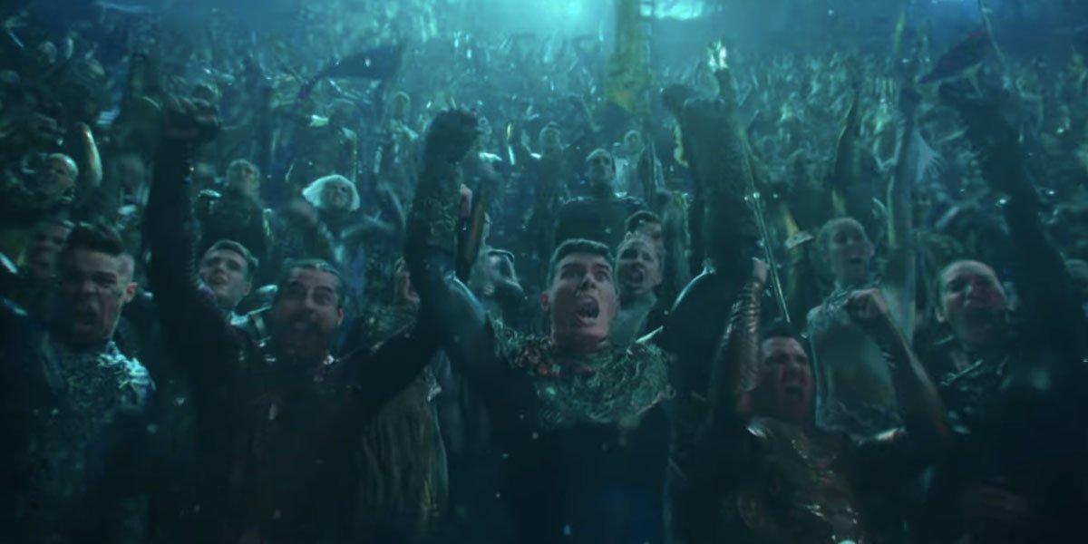 Aquaman crowd screaming underwater James Wan 2018