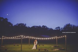Venus and Moon Over Wedding Reception