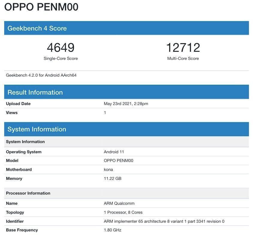 Oppo Reno 6 Pro Plus