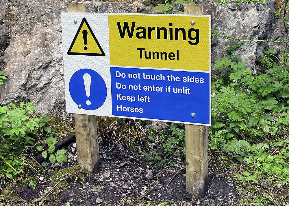 Tunnel notice, Monsal Trail