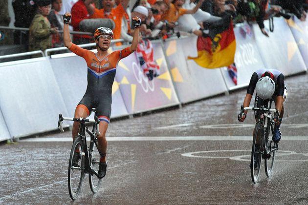 Marianne Vos wins, London 2012 Olympics, women's road race