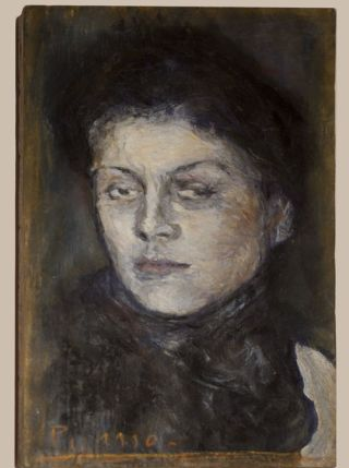 "A Mark Landis forgery of an original painting by Pablo Picasso. The original is titled ""A Portrait de Lora."""